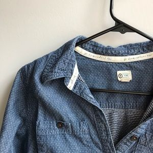 PokaDotted button up top
